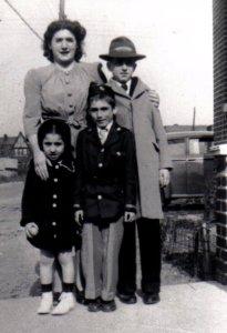 Grandma, Mum, and my uncles- Brooklyn, circa 1943.
