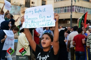 7. This Libyan child who doesn't believe in hate