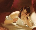 1834 Thomas Sully (1783-1872). The Love Letter.