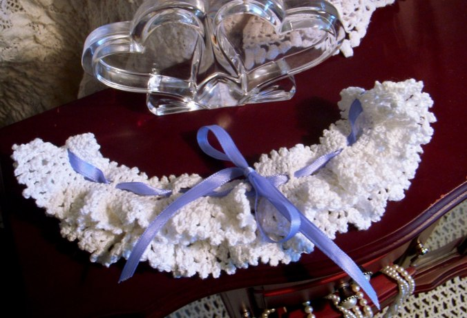 Crochet Wedding Garter.  Custom orders accepted.